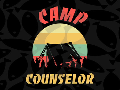 Camp counselor SVG EPS PNG DXF PDF