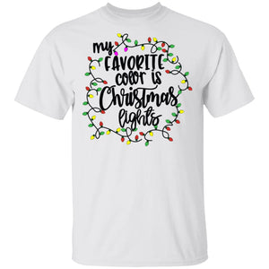 My favorite color is christmas lights Tshirt