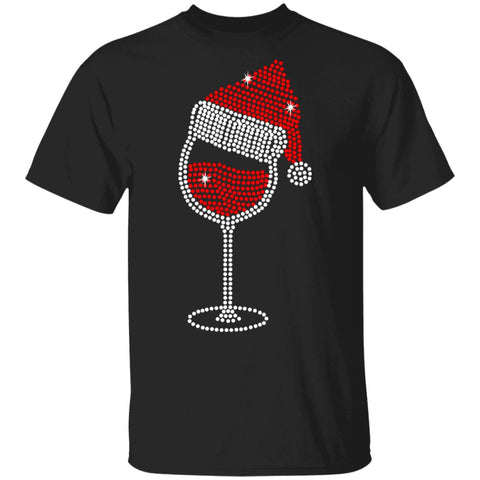 Christmas wine glass Tshirt