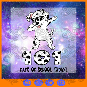 101 days of school dabbing dalmatian dog, JPG, PNG, DXF, SVG