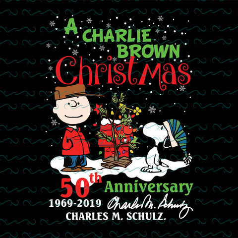 A charlie brown christmas 50th anniversary, merry christmas,  PNG, DXF, EPS, PDF, SVG