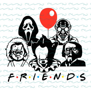 Friends horror movie creepy halloween horror friends team, PNG, DXF, EPS, PDF, SVG