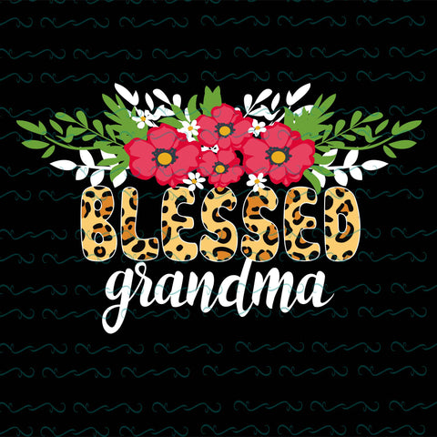 Blessed grandma, PNG, DXF, EPS, PDF, SVG