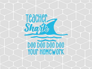 Teacher shark  SVG EPS PNG DXF PDF