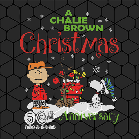 A charlie brown christmas 50th anniversary, PNG, DXF, EPS, PDF, SVG