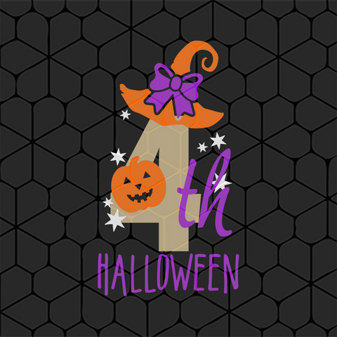 4th halloween, halloween gift, PNG, DXF, EPS, PDF, SVG