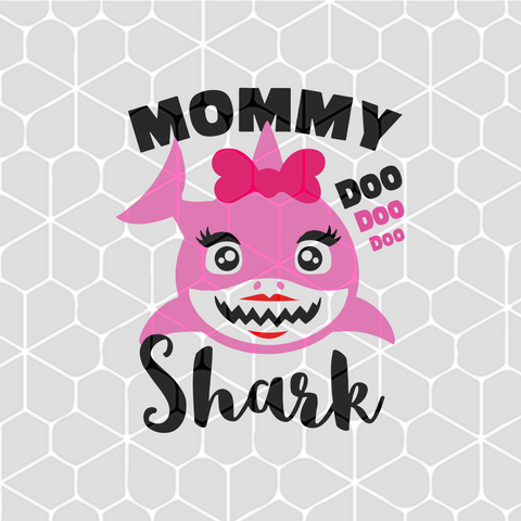 Mommy shark, gift for mommy, PNG, DXF, EPS, PDF, SVG