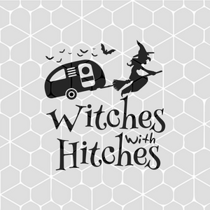 Witches with hitches, witch halloween, halloween gift,  PNG, DXF, EPS, PDF, SVG