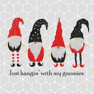 Just hangin' with my gnomies, PNG, DXF, EPS, PDF, SVG