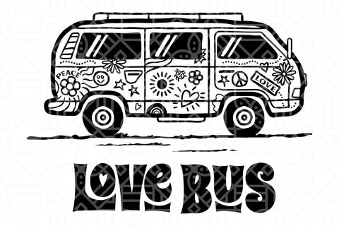 Love bus, PNG, DXF, SVG, EPS, PDF
