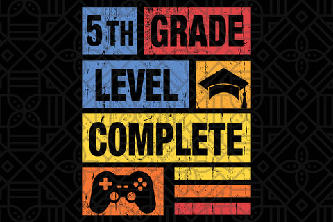 5th grade student video gamer graduation, PNG, DXF, SVG, EPS, PDF