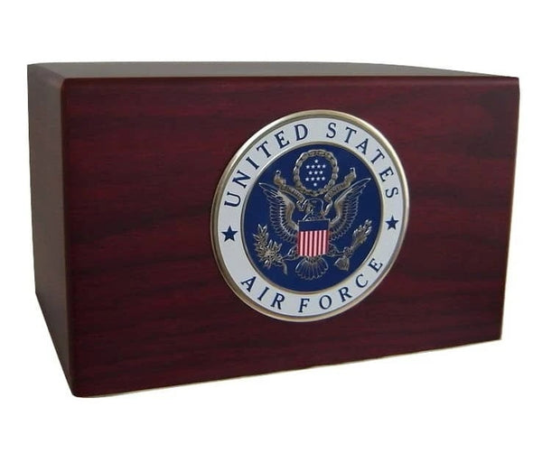 Air Force Emblem Military Urn Cremation Box - Quality Urns & Statues For Less