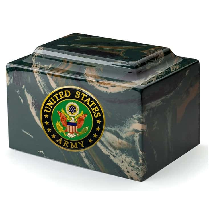 Marble Camouflage Army Urn