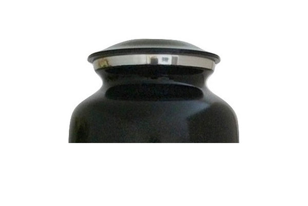 Tractor Urn with Black and Yellow Emblem