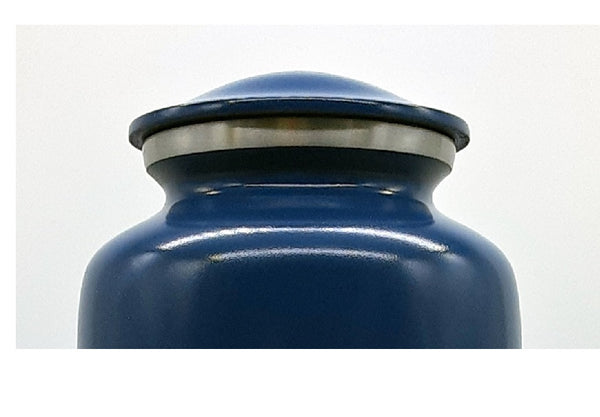 Blue U.S. Navy Urn with Flag - Quality Urns & Statues For Less