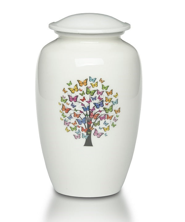 Tree of Butterflies Urn for Ashes - Quality Urns & Statues For Less