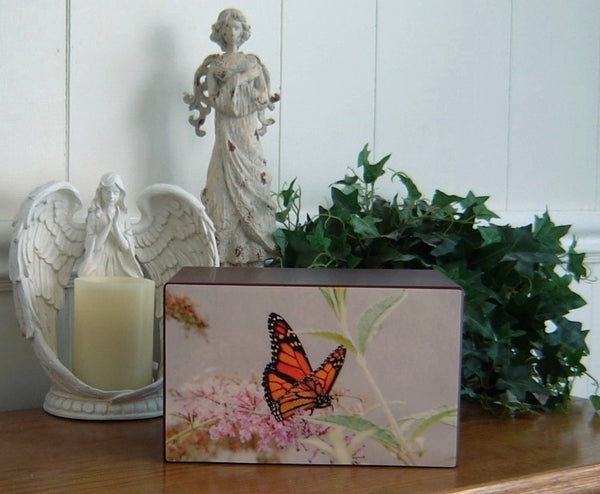Blush Pastels Butterfly Urn for Ashes - Quality Urns & Statues For Less