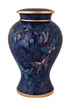Etienne Butterfly Urn for Ashes Cloisonne - Quality Urns & Statues For Less