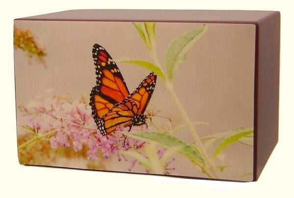 pink butterfly urns
