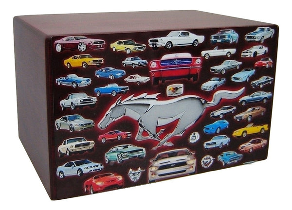 Ford Mustang Collage Urn for Ashes - Quality Urns & Statues For Less
