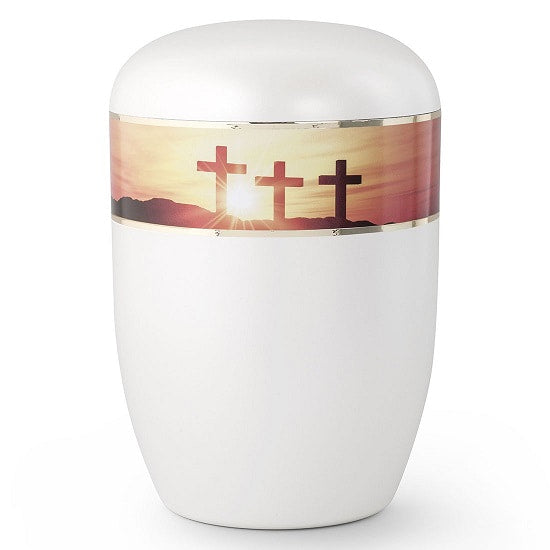 Crosses at Sunset Biodegradable Religious Urn - Quality Urns & Statues For Less