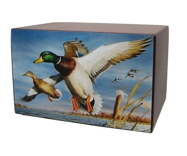 Marshland Ducks Hunting Urn - Quality Urns & Statues For Less
