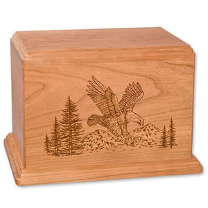 Laser Etch Eagle Urn for Ashes Engravable - Quality Urns & Statues For Less