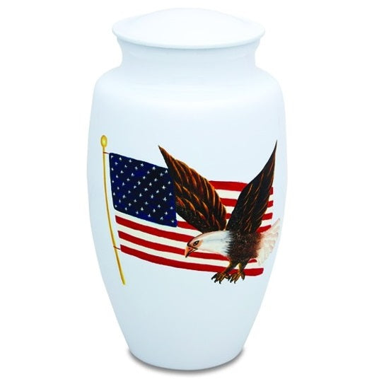 Patriot Eagle and Flag Urn - Quality Urns & Statues For Less