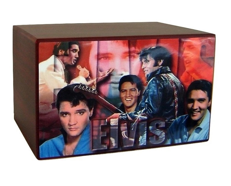 Elvis Presley Collage Urn for Ashes - Quality Urns & Statues For Less