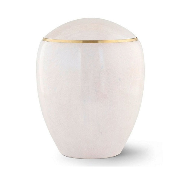 Ambient Pearl White Alderwood Extra Large Urn - Quality Urns & Statues For Less