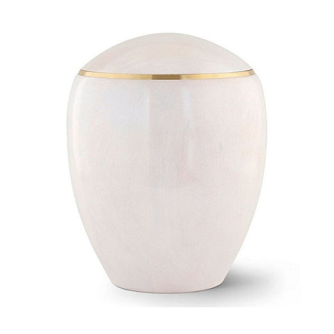 Ambient Pearl White Alderwood Urn - Quality Urns & Statues For Less