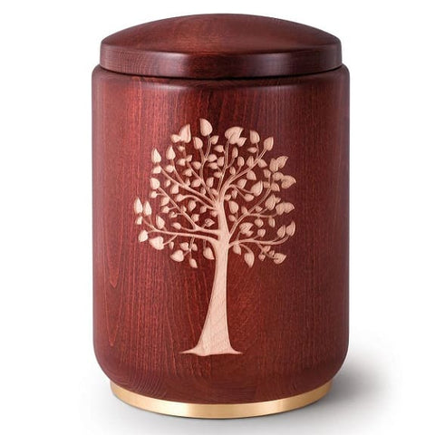 Ances-Tree Extra Large Wooden Urn - Quality Urns & Statues For Less