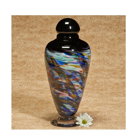 Yukon Sky Handblown Glass Urn - Quality Urns & Statues For Less