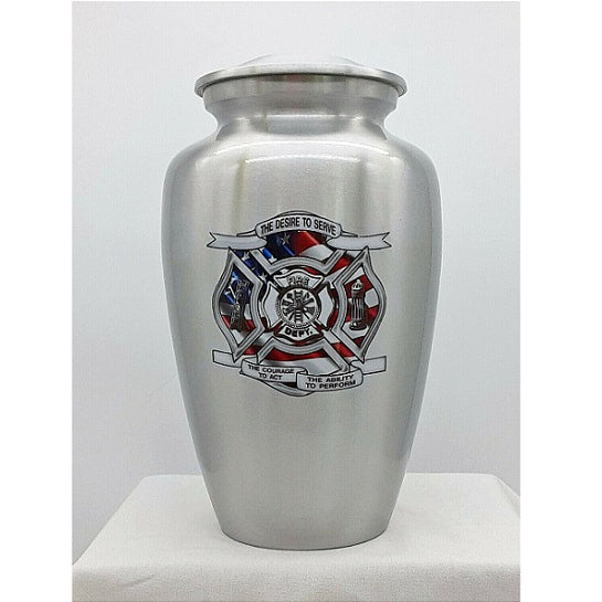 Firefighter Credo Urn - Quality Urns & Statues For Less