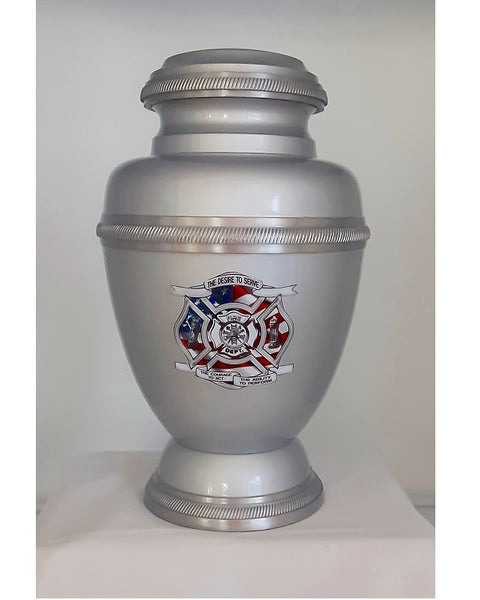 Firefighter Urn Maltese Cross - Quality Urns & Statues For Less