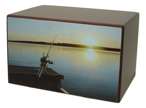 Fisherman Forever Cremation Urn for Ashes - Quality Urns & Statues For Less