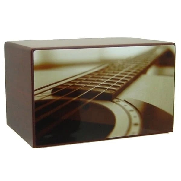 Acoustic Guitar Cremation Urn for Ashes - Quality Urns & Statues For Less