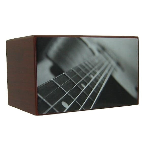 Guitar Urn for Ashes Black and White - Quality Urns & Statues For Less