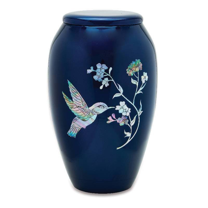 Blue Hummingbird Urn - Quality Urns & Statues For Less