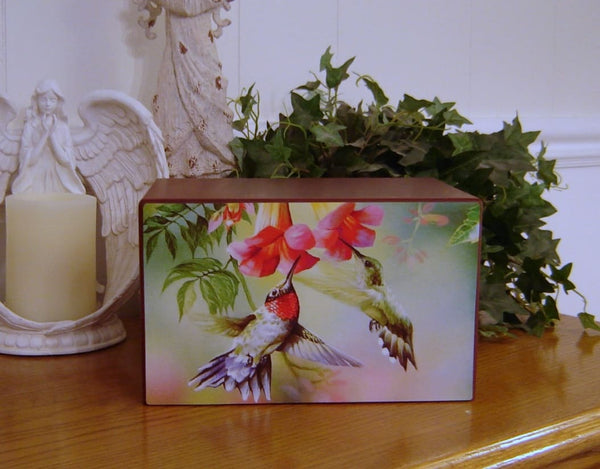 Colorful Hummingbirds Urn - Quality Urns & Statues For Less