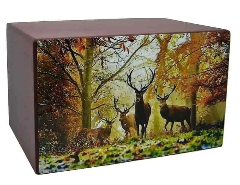Majestic Bucks Hunting Urn - Quality Urns & Statues For Less