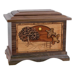 Quails in Flight Hunting Urn