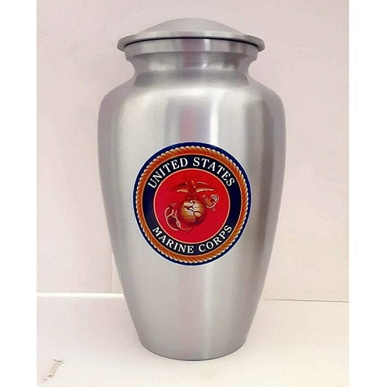 Marine Corps Urn Military Emblem - Quality Urns & Statues For Less
