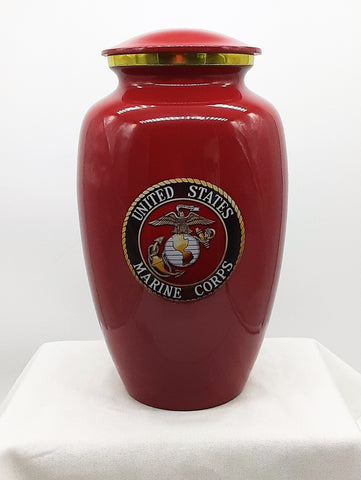 Traditional Marine Corps Emblem Deep Red - Quality Urns & Statues For Less