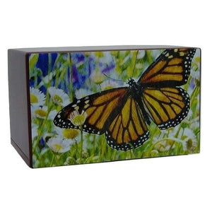 Monarch Butterfly Urn Cremation Box - Quality Urns & Statues For Less