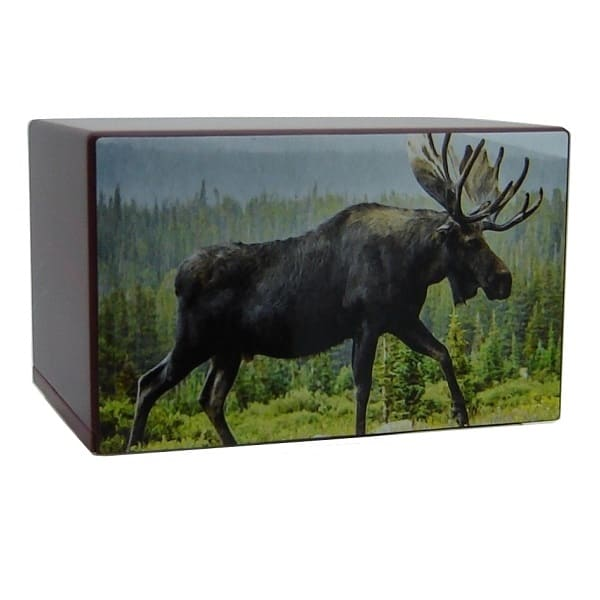 Moose in the Wild Hunting Urn - Quality Urns & Statues For Less