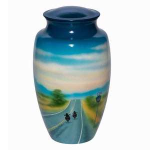 Eternity Ride Hand Painted Motorcycle Urn - Quality Urns & Statues For Less