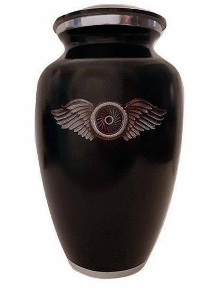 Winged Wheel Motorcycle Urn - Quality Urns & Statues For Less