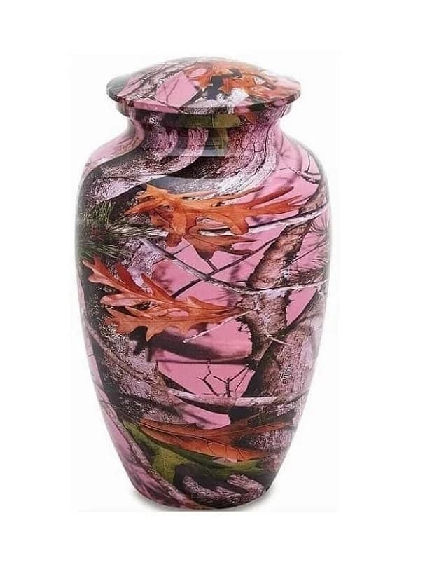 Pink Camouflage Urn - Quality Urns & Statues For Less