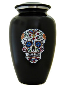 Sugar Skull Cremation Urn for Ashes - Quality Urns & Statues For Less